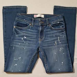 Levi's 511 Slim Paint Splatter Jeans Size 12 Reg